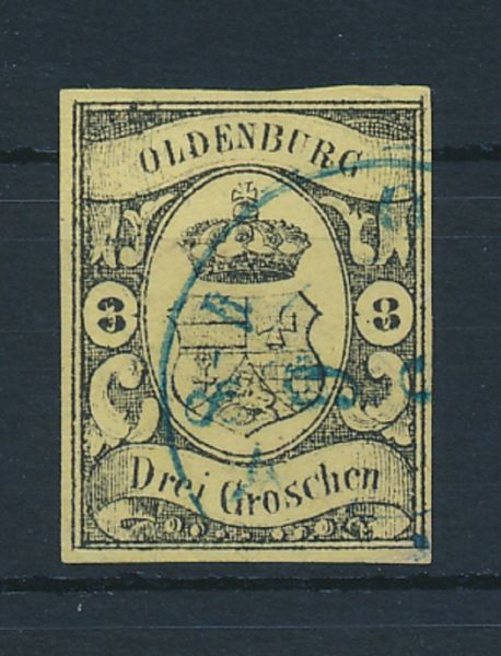 Oldenburg Mi.Nr.8 gestempelt Luxus Fotobefund BPP