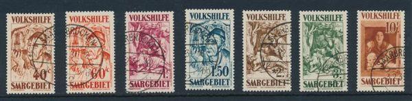 Saar Mi.Nr.144-50 gestempelt, Luxus, Fotoattest Geigle