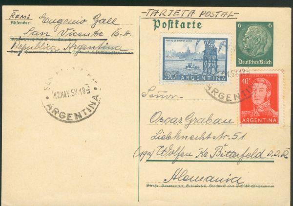 Deutsches Reich Ganzsache aus Argentinien