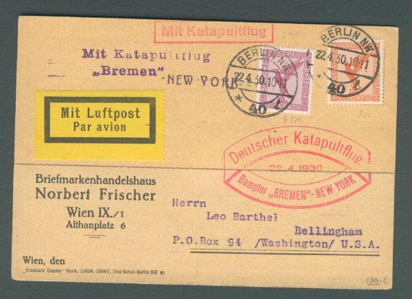 Katapultflug Bremen - New York