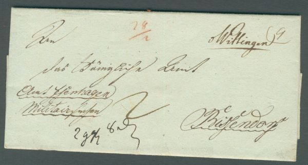 Wittingen handschriftlich Vorphila/Altbeleg