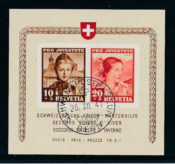 Schweiz Block 6 gestempelt Luxus Fotobefund