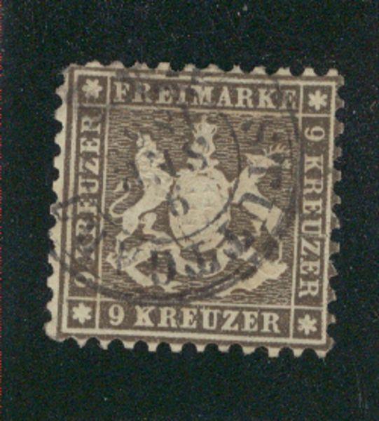 Württemberg Mi.Nr. 28 d gestempelt
