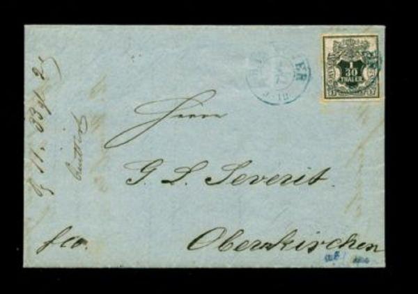 "Hannover Mi.Nr. 10a auf Brief mit Stempel ""Hannover"""
