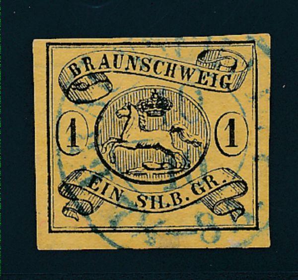 Braunschweig Mi.Nr.6ay gestempelt Lux Fotobefund BPP