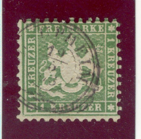 Württemberg Mi.Nr. 25 b gestempelt geprüft BPP