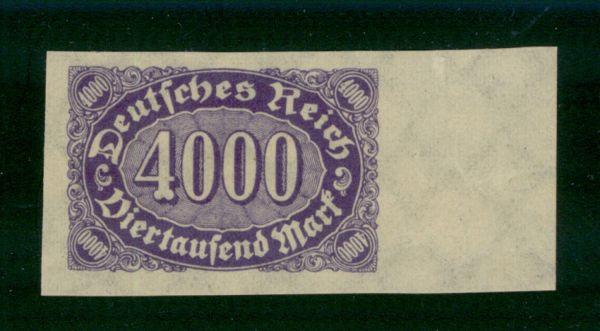 Deutsches Reich Mi.Nr. 255 U ** postfrisch ungezähnt