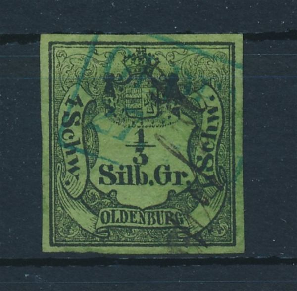 Oldenburg Mi.Nr. 1 gestempelt Fotobefund Berger BPP