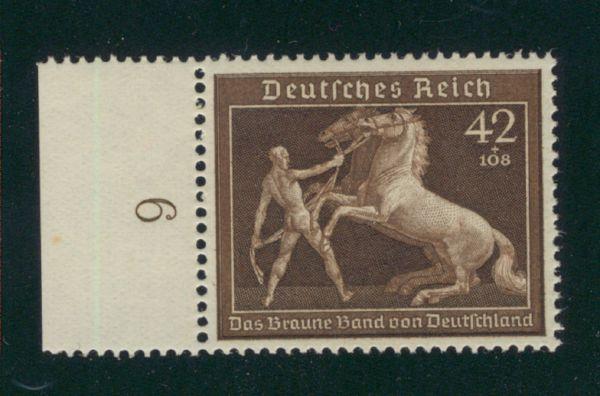 Deutsches Reich Mi.Nr.699 Randstück ** postfrisch