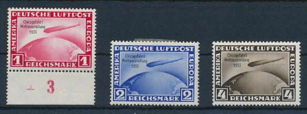 Deutsches Reich Mi.Nr.496-98 * ungebraucht, Mi.1200.-