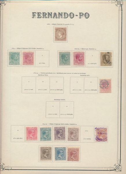 Fernando Poo Alte Sammlung ca. 1868-1925 mit Besseren