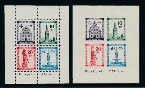 Franz.Zone Baden Block 1 A + B ** postfrisch