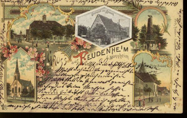 FreudenheimFarbige Ansichtskarte