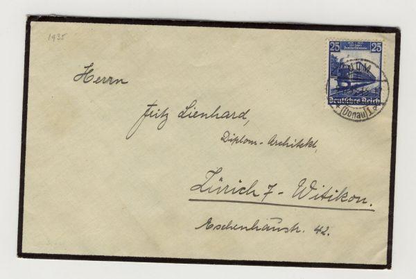 Deutsches Reich Mi.Nr.582 Auslandsbrief in die Schweiz