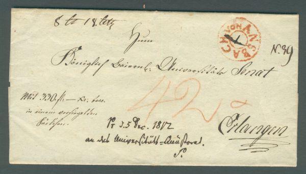 von Ansbach rot 1802 Vorphila/Altbeleg