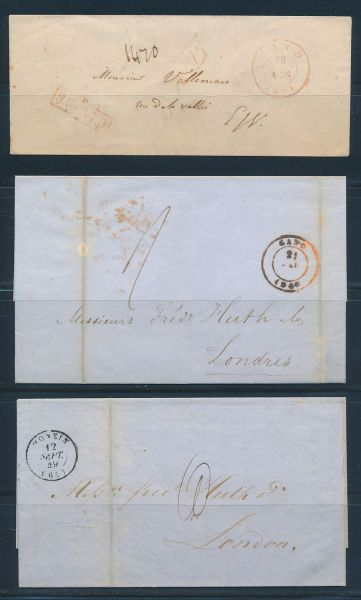 Belgien Alte Briefesammlung mit interessanten Stücken