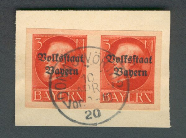 BAYERN Mi.Nr.130 im Paar gestempelt geprüft BPP