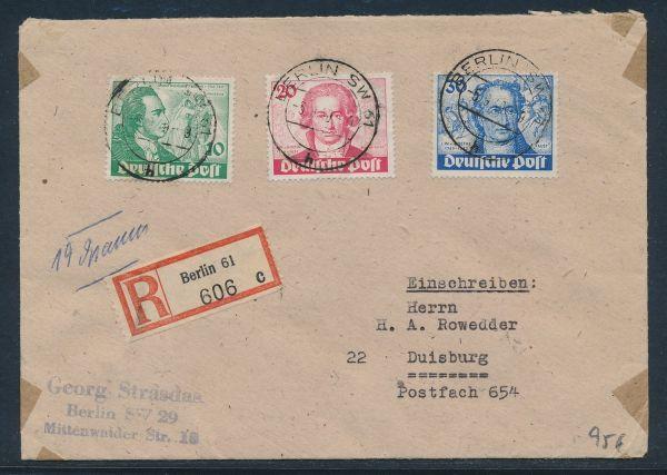 Berlin 1948 - ca.1956 Klasse - Brief+ Belegesammlung