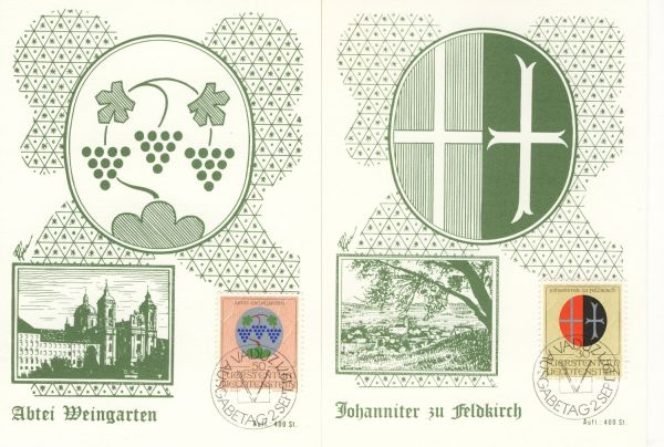 Liechtenstein Mi.Nr.548-50 Alte Maximumkarten