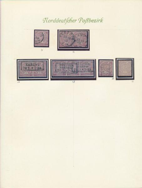 Norddeutscher Postbezirk Starke Sammlung mit Topwerten