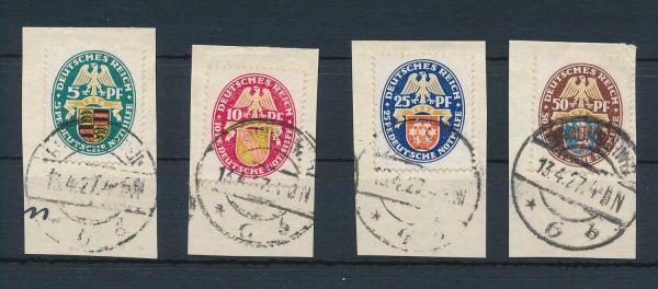 Deutsches Reich MI.Nr.398-401 gestempelt Lux FB BPP