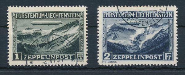 Liechtenstein Mi.Nr.114-15 gestempelt Lux Fotobefund