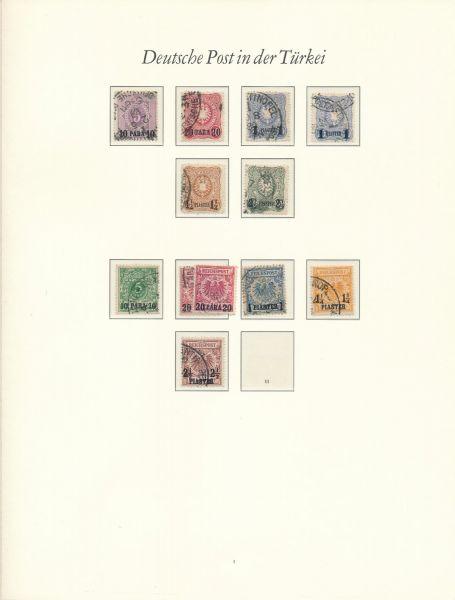 Deutsche Post in der Türkei gestempelte Sammlung