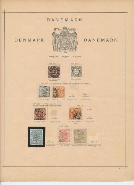 Dänemark Alte urige und stark besetzte Sammlung