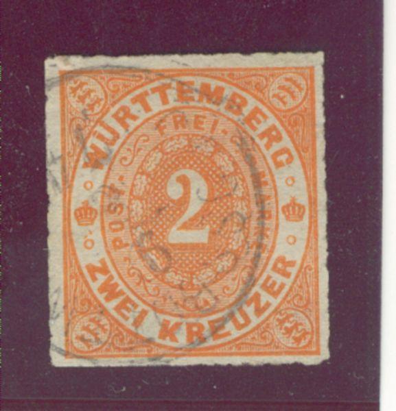Württemberg Mi.Nr. 37 b gestempelt geprüft BPP