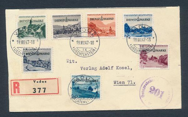 Liechtenstein Sammlung mit alten Briefen