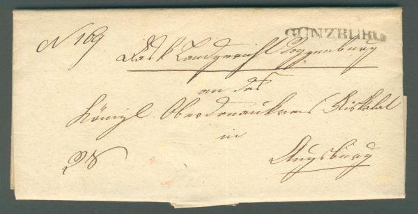 Günzburg 1832 mit Inhalt L 1 Vorphila/Altbeleg