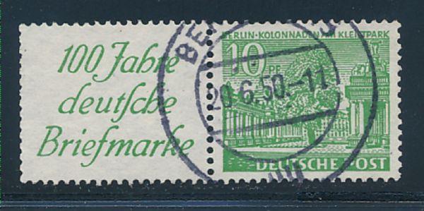 Berlin Mi.Nr.W 9 gestempelt Heftchenzähnung
