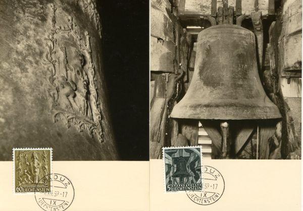 Liechtenstein Mi.Nr.386-88 Alte Maximumkarten