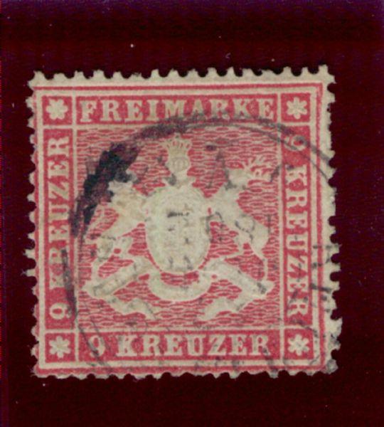 Württemberg Mi.Nr.19ya gestempelt geprüft BPP