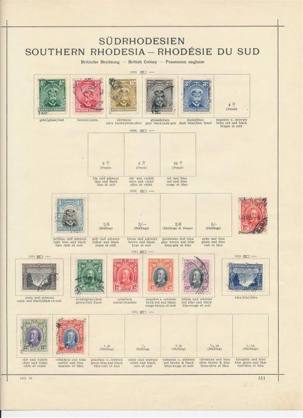 Südrhodesien Semiklassik Interess. alte Sammlung