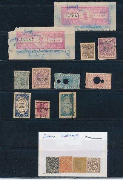 Altindien Kollektion u.a. mit gesuchten Gebührenmarken