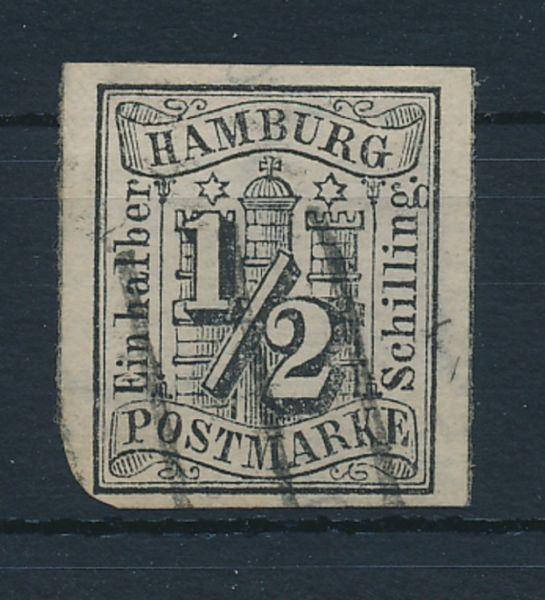 Hamburg Mi.Nr.1 gestempelt Luxus Fotoattest BPP