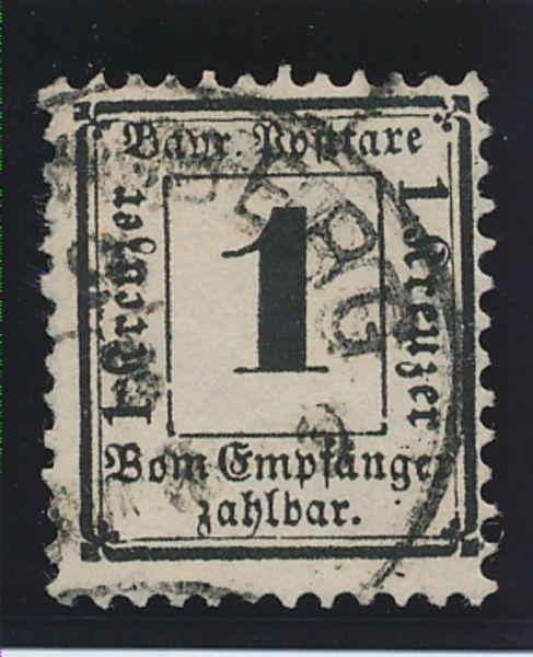 Bayern Porto Mi.Nr.2X I gestempelt Lux Fotoattest BPP