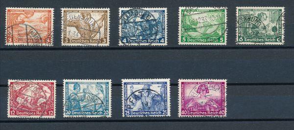 Deutsches Reich Mi.Nr.499-507 gestempelt