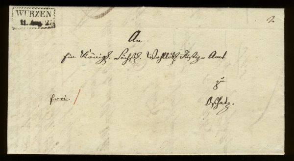 Wurzen 1827 Vorphila-/Altbeleg