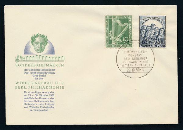 Berlin Mi.Nr.72-73 Ersttagsbrief FDC