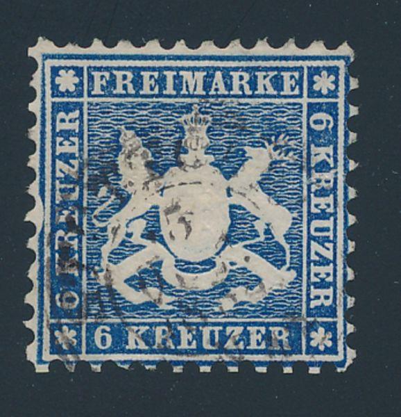 Württemberg Mi.Nr.27 I gestempelt Luxus Fotobefund BPP