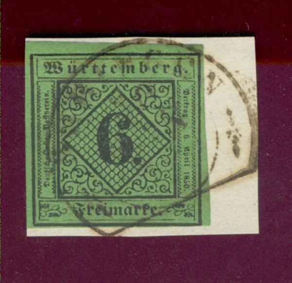 Württemberg Mi.Nr. 3 y gestempelt geprüft BPP