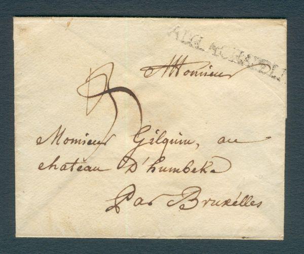 Aachen Vorphila Rarität Brief mit Inhalt aus 1772