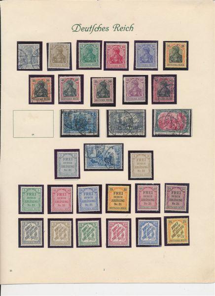 Deutsches Reich 1872-1945 mit guten ** Ausgaben