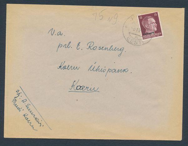 Ostland Mi.Nr.9 auf Brief