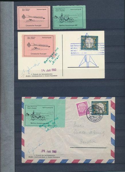 Raketenpost Starke Sammlung,meist Bund sechziger Jahre