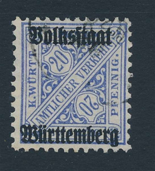Württemberg Mi.Nr.264 d gestempelt Lux Fotoattest BPP
