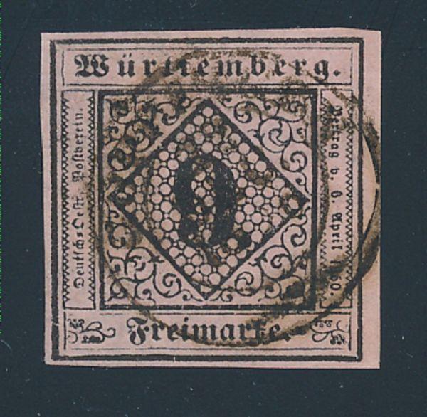 Württemberg Mi.Nr.4 c gestempelt Luxus Fotobefund BPP