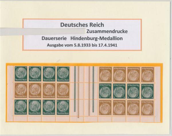 Deutsches Reich Zusammendrucke Hindenburg gr.Sammlung